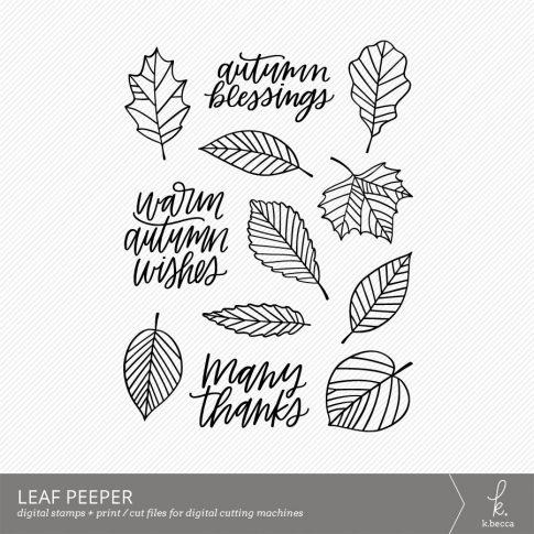 Leaf Peeper Digital Stamps by k.becca #cardmaking #digistamps #printandcut