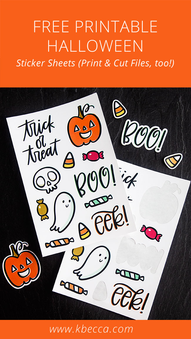 Free Printable Halloween Sticker Sheets (Print & Cut Files Included)