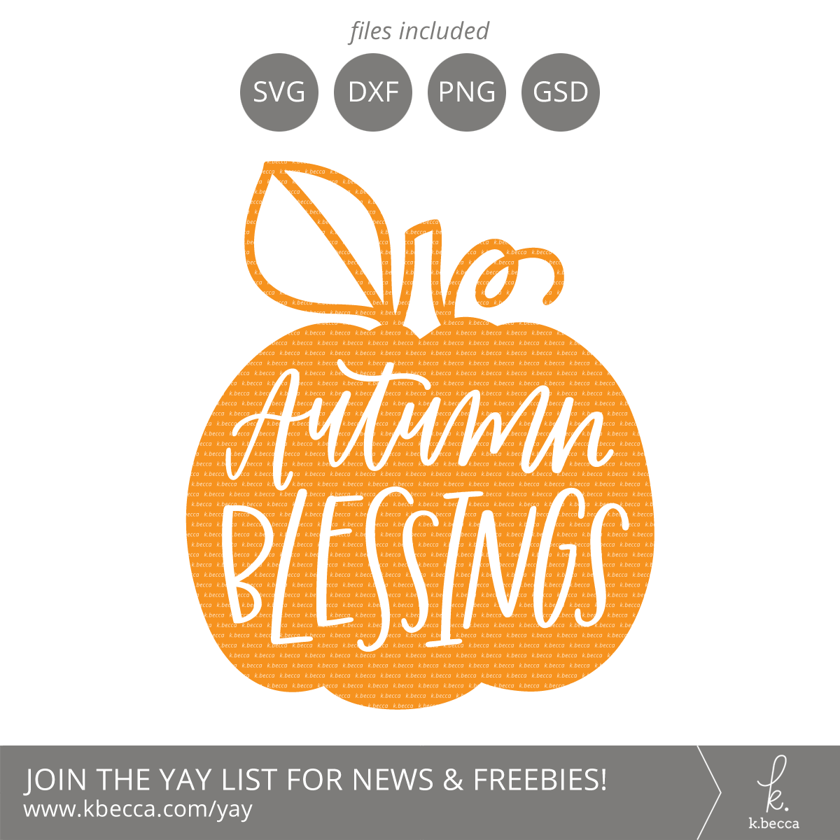 Autumn Blessings Pumpkin SVG Cut Files (Commercial License Available) #svgfiles #silhouettecameo #cutfiles
