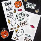 Free Printable Halloween Sticker Sheets from k.becca (Print & Cut Files Included)