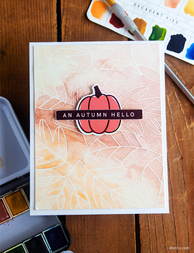 Silhouette Sketch + Heat Embossing Resist Watercolor Backgrounds (Video) #cardmaking