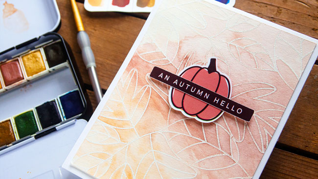 Silhouette Sketch + Heat Embossing Resist Watercolor Backgrounds (Video)