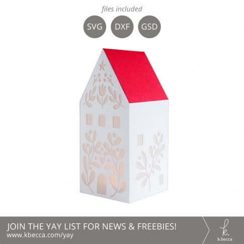 Folk Art Village : House 1 Cut Files #svgfile #cutfiles #silhouettecameo #cricut
