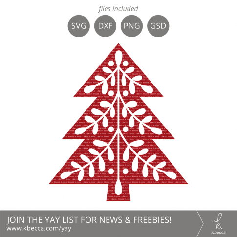 Folk Art Christmas Tree 2 SVG Cut Files #svgfiles #cutfiles #christmas #silhouettecameo #cricut