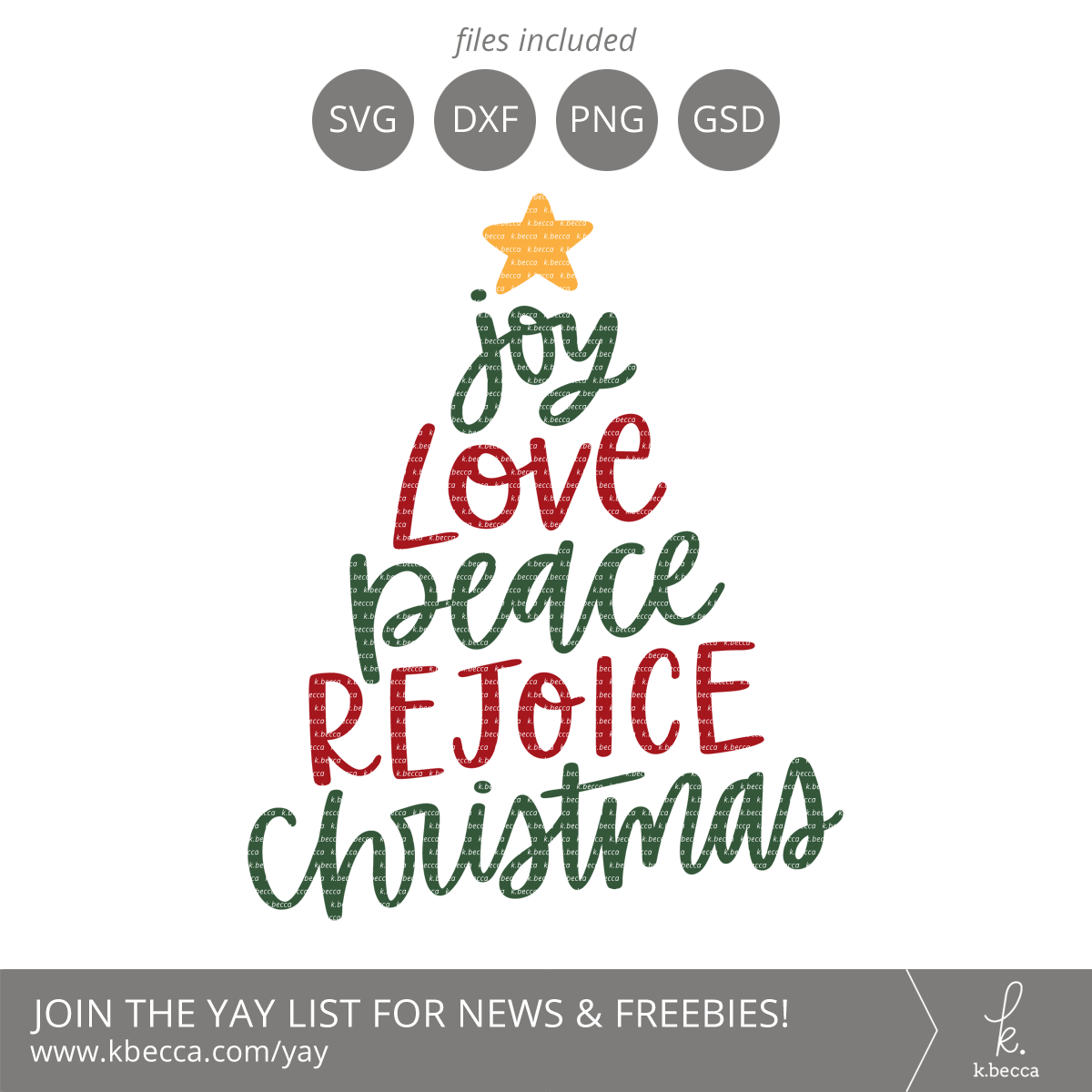 Joy Love Peace Rejoice Christmas Tree SVG Cut Files #svgfiles #cutfiles #christmas #silhouettecameo #cricut