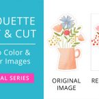 Silhouette Print & Cut Tutorial - How to Color & Recolor Images in Silhouette Studio (Video) #silhouettecameo #silhouettestudio #printandcut