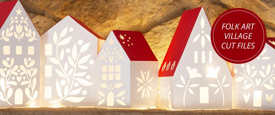 Folk Art Village Cut Files