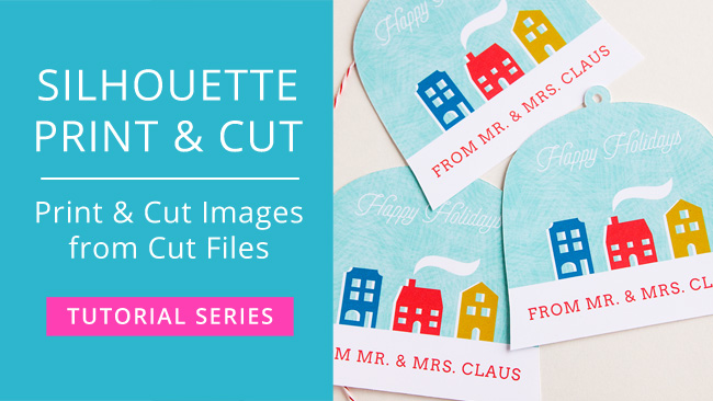 How to Make Print & Cut Files from Regular Cut Files in Silhouette Studio #silhouettecameo #svgfiles #printandcut