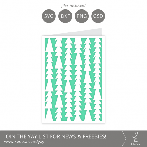 Funky Christmas Trees Card SVG Files - A2 & A7 Sizes Included #svgfiles #silhouettecameo #cutfiles