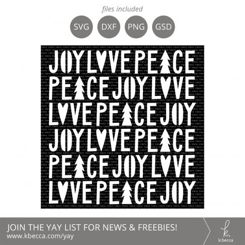 Joy Love Peace Stencil SVG Cut Files #svgfiles #cutfiles #silhouettecameo #cricut