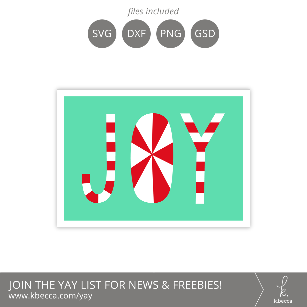 Peppermint Joy Card SVG Files - A2 & A7 Sizes Included #svgfiles #silhouettecameo #cutfiles