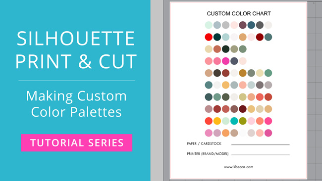 How To Make Custom Color Palettes For Print Cut In Silhouette