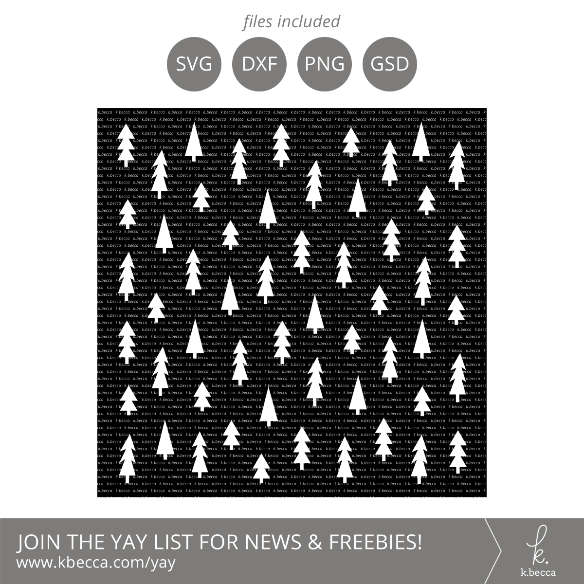 Christmas Trees Stencil SVG Cut Files #svgfiles #cutfiles #silhouettecameo #cricut