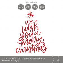 We Wish You A Merry Christmas Tree SVG Cut Files #svgfiles #cutfiles #christmas #silhouettecameo #cricut