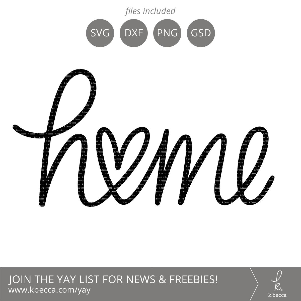 Home Heart Handwritten SVG Cut Files - Commercial ...