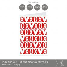 XOXO Card SVG Cut Files #svgfiles #silhouettecameo #cutfiles #cricut
