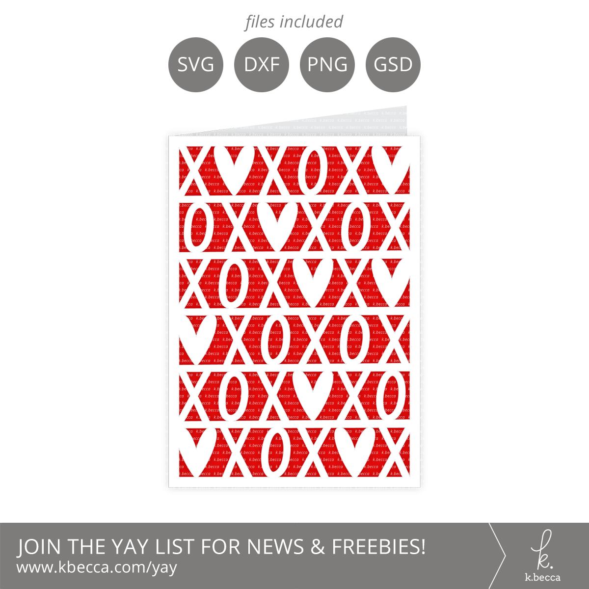 XOXO Card SVG Cut Files #svgfiles #silhouettecameo #cutfiles #cricut