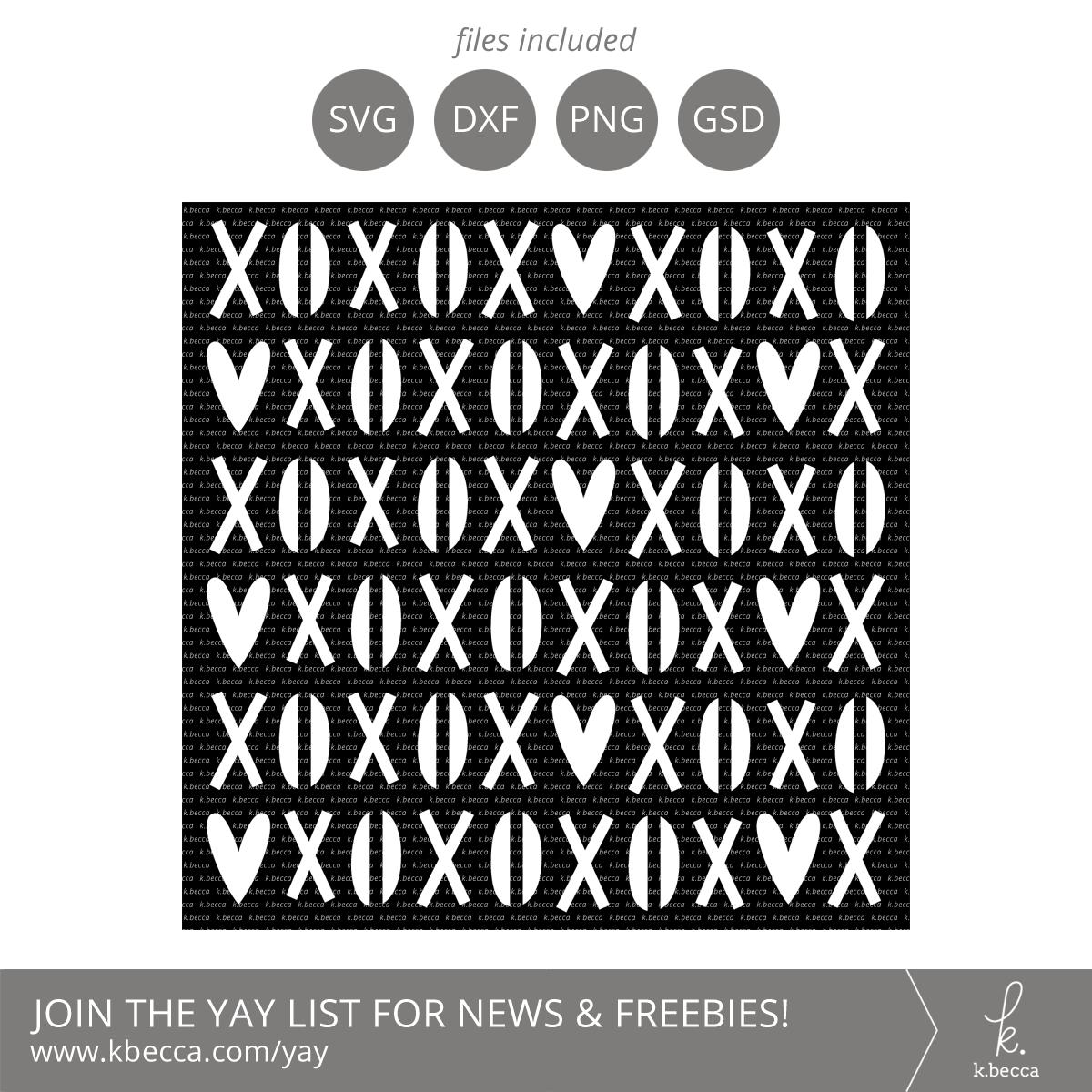 XOXO Stencil SVG Cut Files #svgfiles #silhouettecameo #cutfiles #cricut