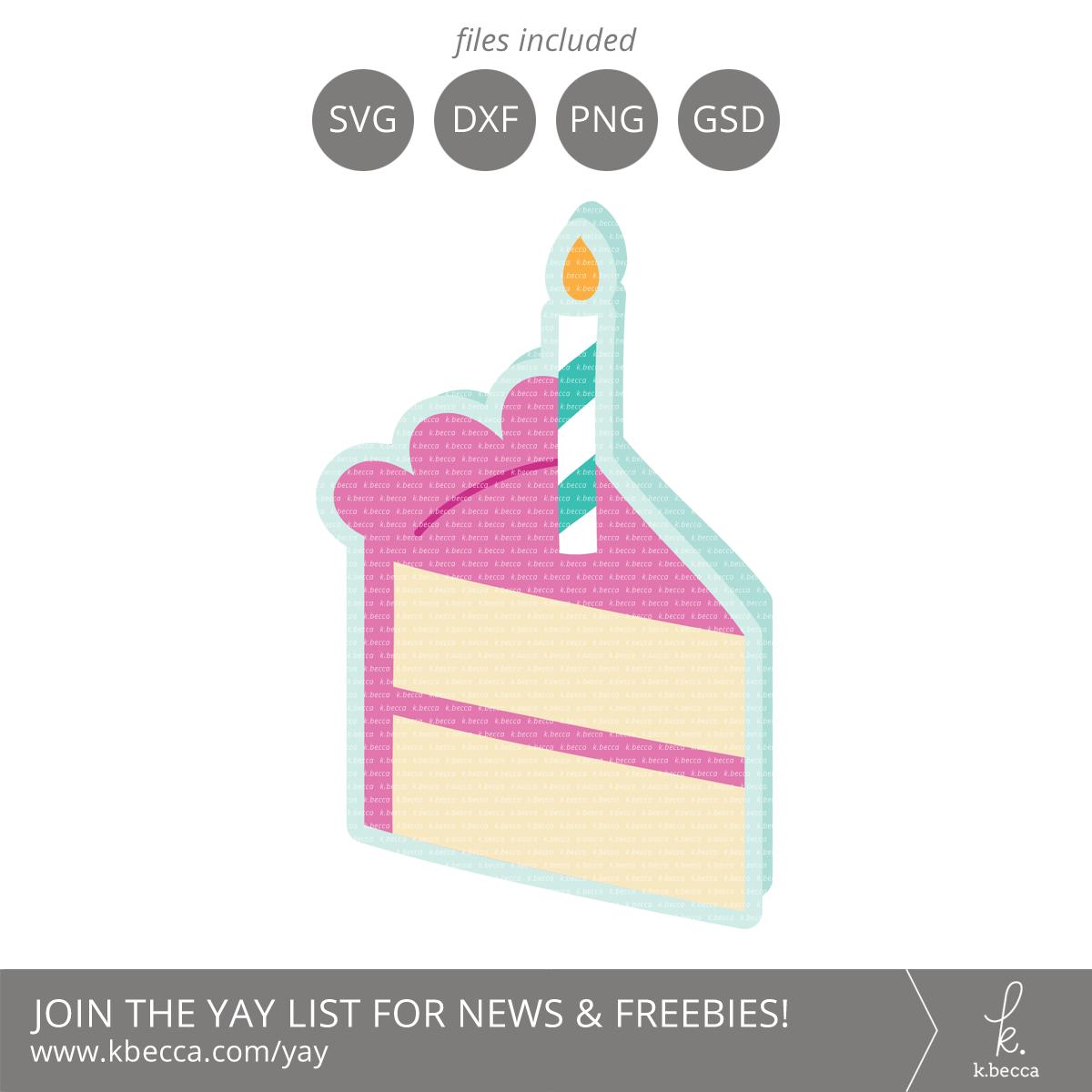 Birthday Cake Card SVG Cut Files #svgfile #silhouettecameo #cutfile #cricut