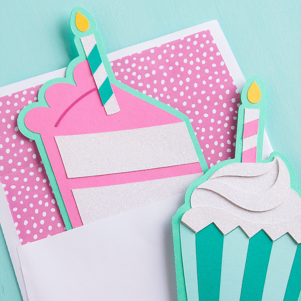 New in the Shop : Birthday Cake & Cupcake Card Cut Files