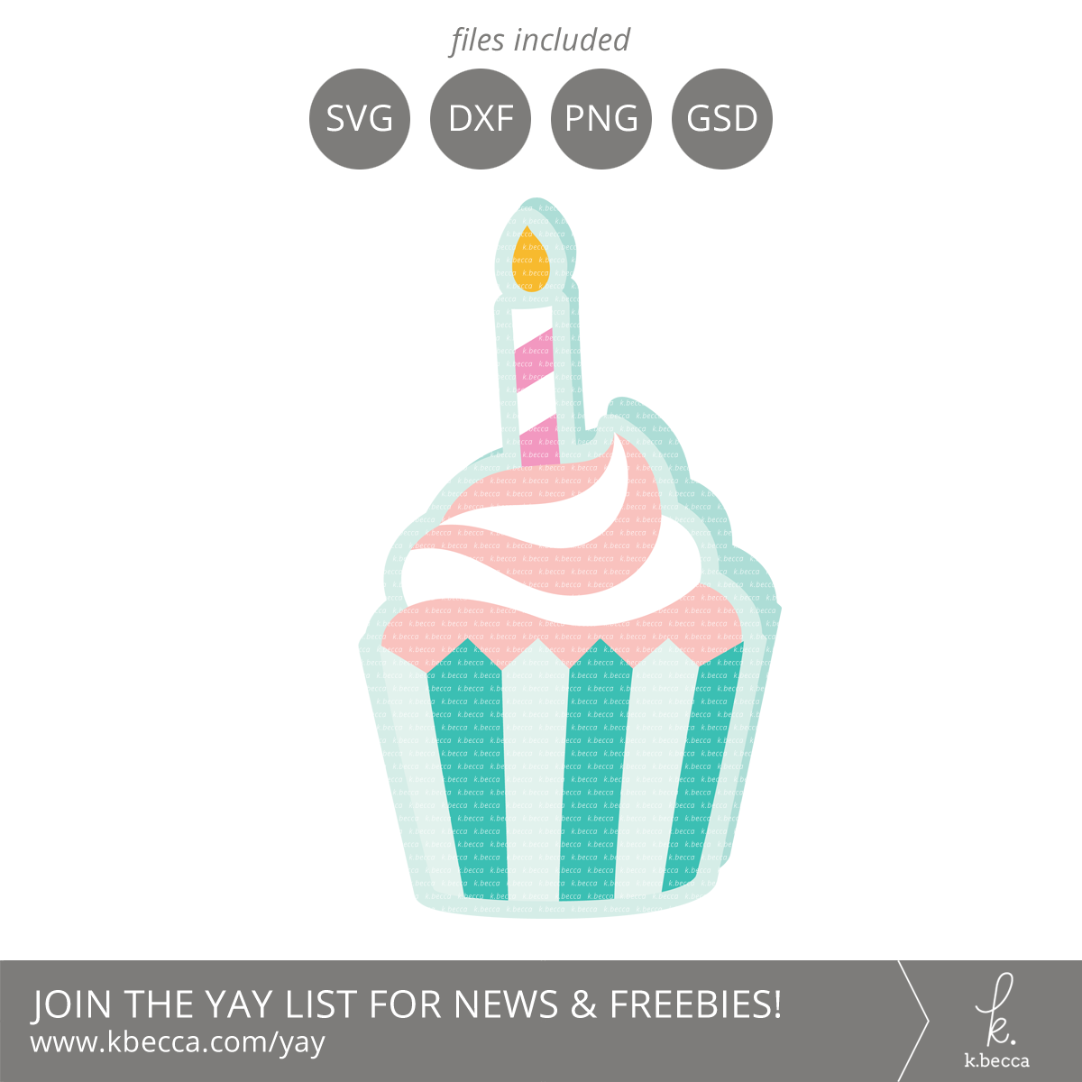 Birthday Cupcake Card SVG Cut Files #svgfile #silhouettecameo #cutfile #cricut