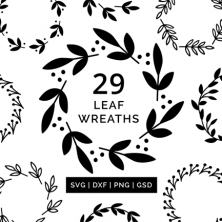 Leaf Wreath SVG Cut Files #svgfiles #cutfiles #silhouettecameo #cricut