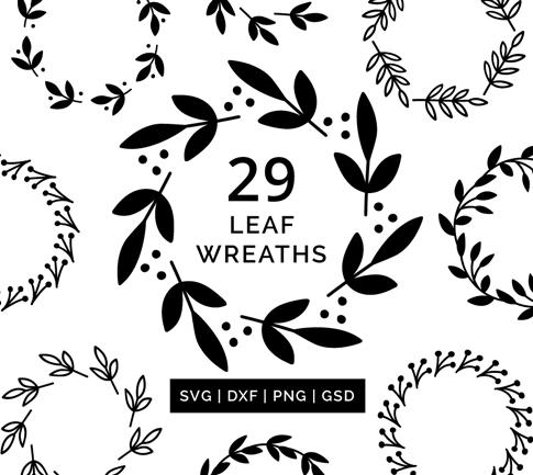 Leaf Wreath SVG Cut Files #svgfiles #cutfiles #silhouettecameo #cricut