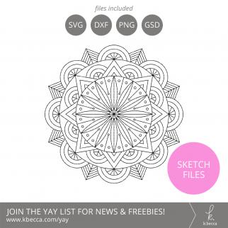 Mandala #1 Sketch Files #silhouettecameo #cricut #foilquill