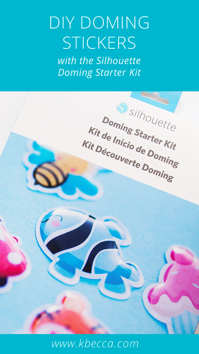 DIY Domed Stickers with the Silhouette Doming Starter Kit (Video Tutorial) #silhouettecameo