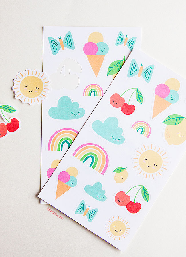 How to Make Kiss Cut Sticker Sheets with Silhouette Cameo (Video)