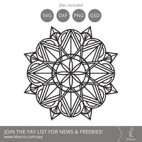 Art Deco Mandala SVG Cut Files (Commercial Licensing Available) #svgfile #svgfiles #cutfile #cutfiles #cricut #silhouettecameo
