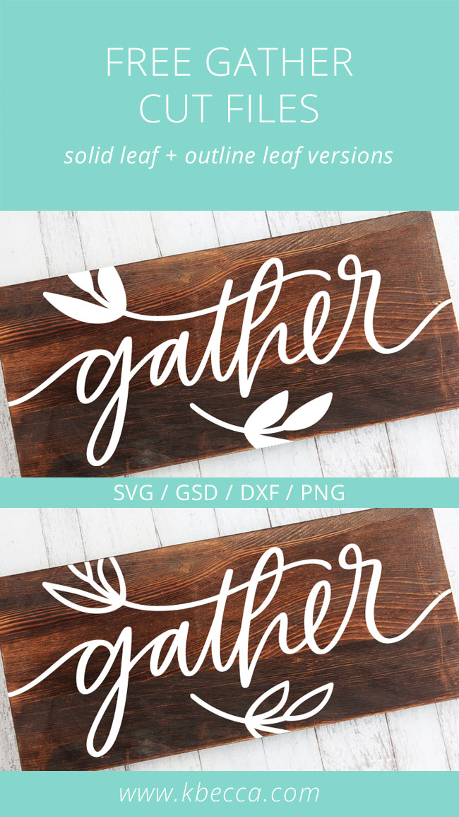 Free Handwritten Gather SVG Cut Files