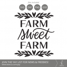 Farm Sweet Farm SVG Cut Files (Commercial Licensing Available) #svgfile #svgfiles #cutfile #cutfiles #cricut #silhouettecameo