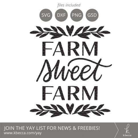 Farm Sweet Farm SVG Cut Files (Commercial Licensing Available) #svgfile #svgfiles #cutfile #cutfiles #cricut #silhouettecameo