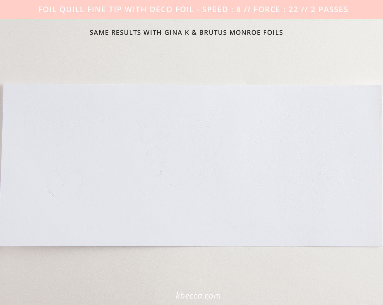 We R Memory Keepers Foil Quill Fine Tip Results with Deco Foil #foilquill #silhouettecameo
