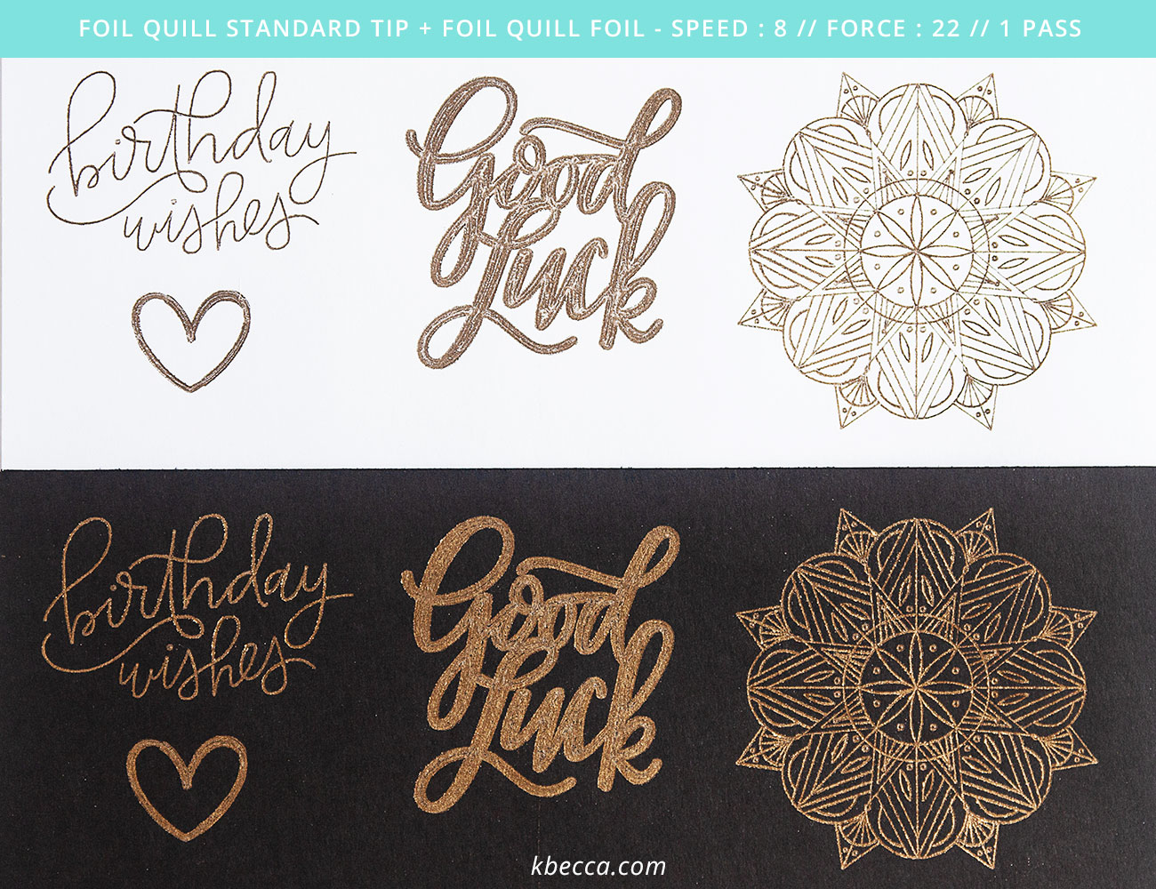 We R Memory Keepers Foil Quill Standard Tip Results with Foil Quill Brand Foil #foilquill #silhouettecameo