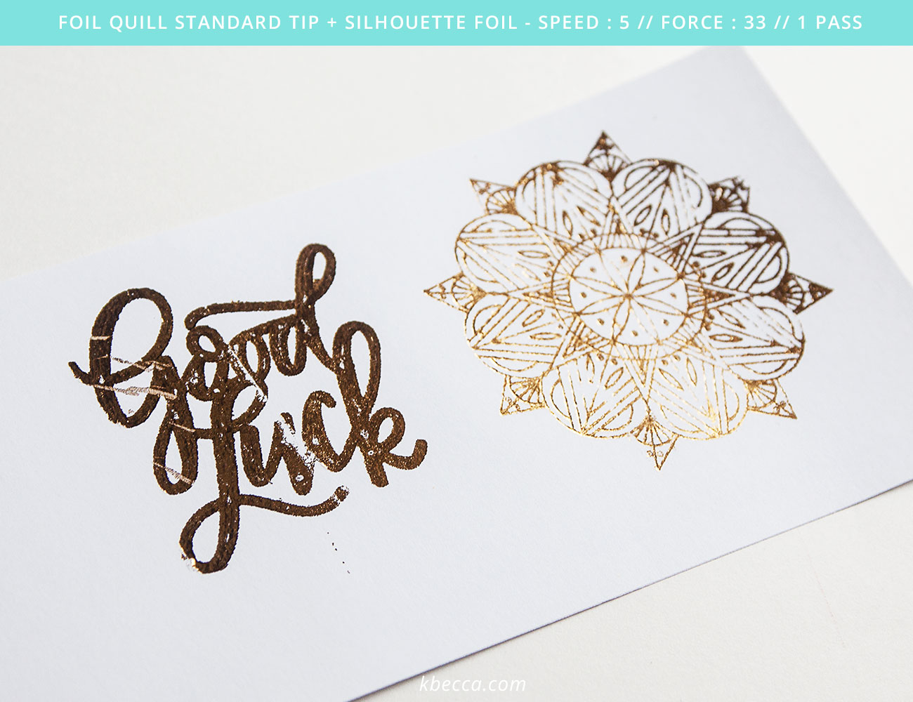 We R Memory Keepers Foil Quill Standard Tip Results #foilquill #silhouettecameo