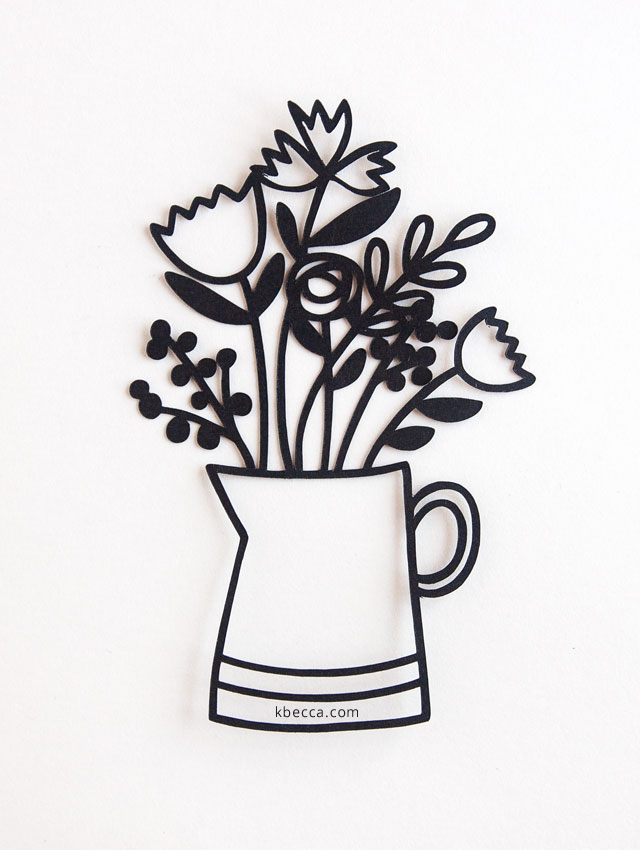 New in the Shop : Flower Pitcher Cut File