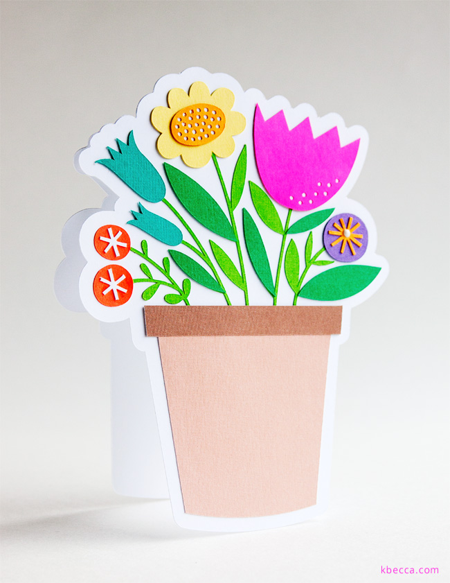 New in the Shop : Flower Pot Card SVG Cut Files