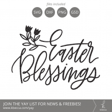Handwritten Easter Blessings SVG Cut File #svgfile #svgfiles #cutfile #cutfiles #silhouettecameo #cricut