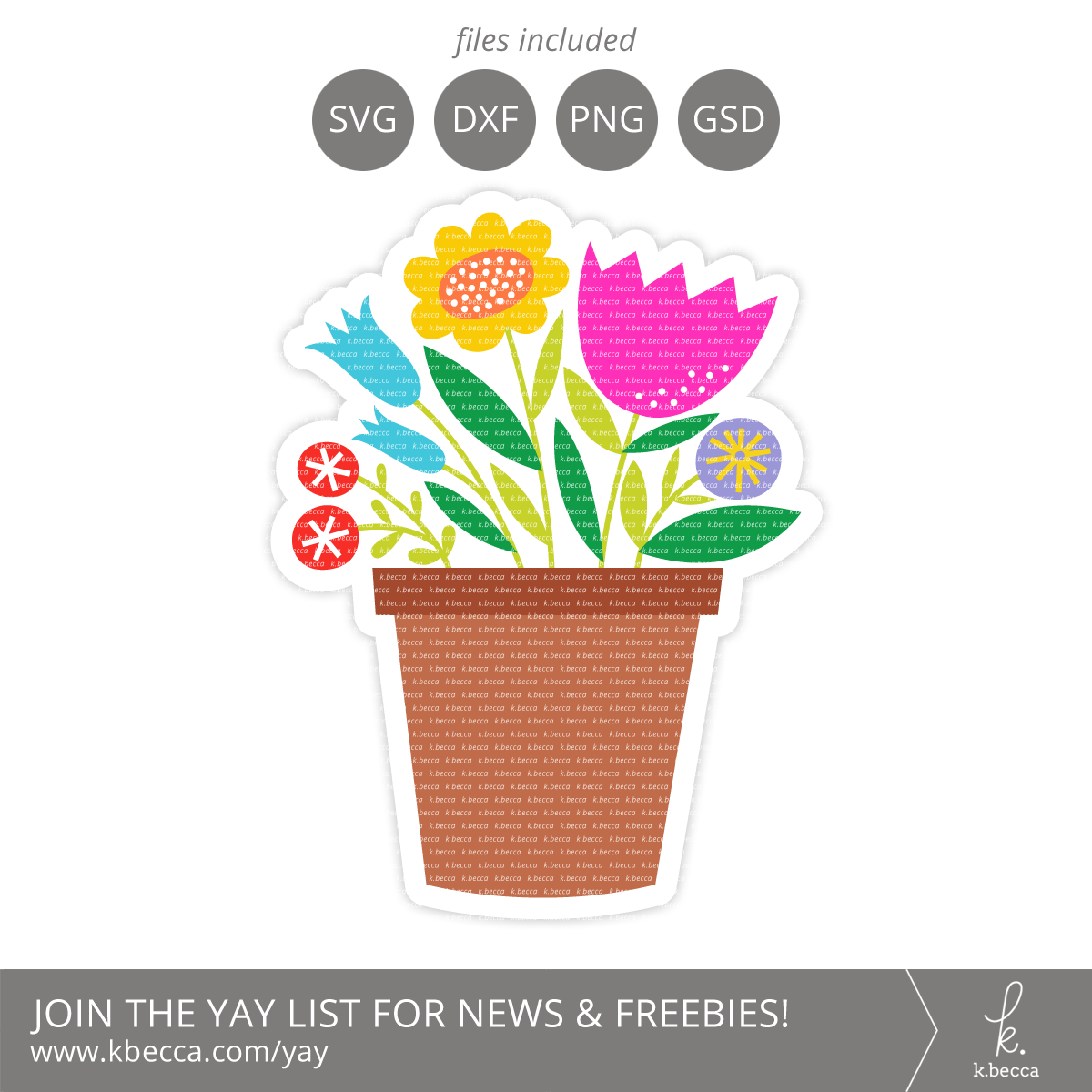 Flower Pot Card SVG Cut Files #svgfile #cutfile #svgfiles #cutfiles #silhouettecameo #cricut