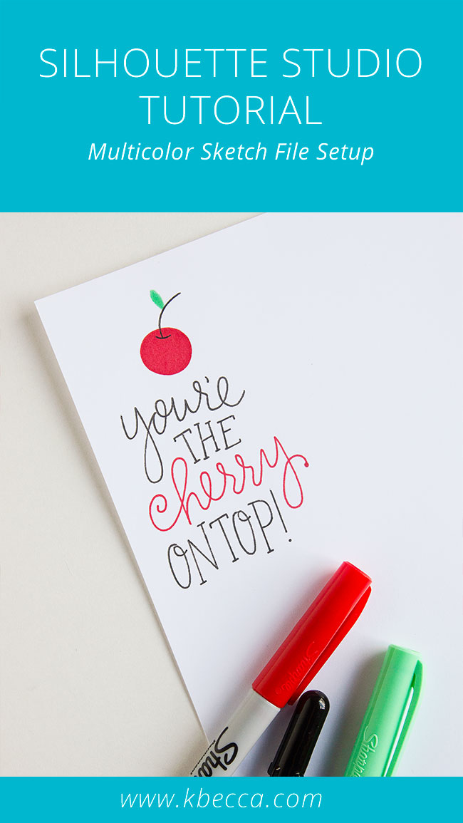 How to Set Up Multicolor Sketch Files in Silhouette Studio (Cut By Color) #silhouettecameo