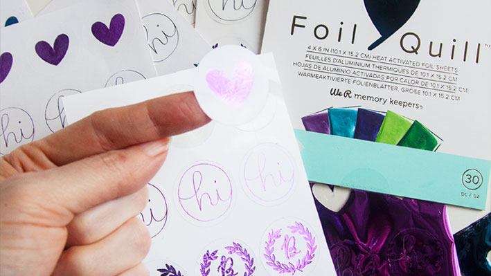 How to Make Foil Quill & Cut Sticker Sheets in Silhouette Studio