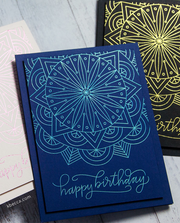 Easy Foil Quill Birthday Card Ideas Tutorial #foilquill #cardmaking