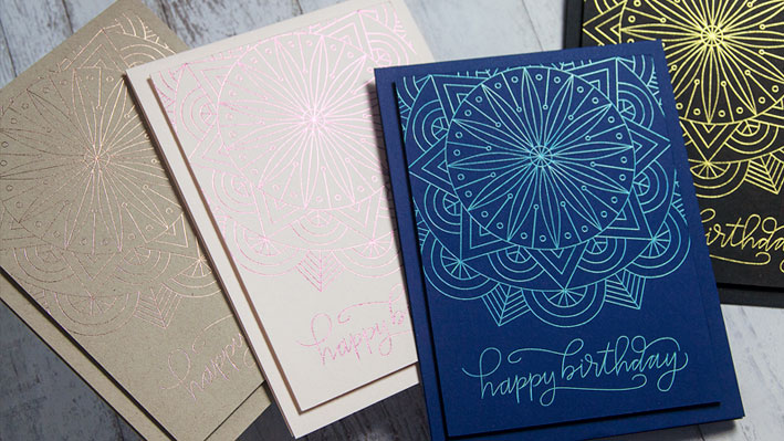 Easy Foil Quill Birthday Card Making Ideas