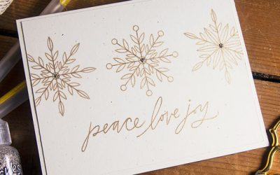 Clean & Simple Sketch Christmas Cards + Glitter & Metallic Gel Pen Review