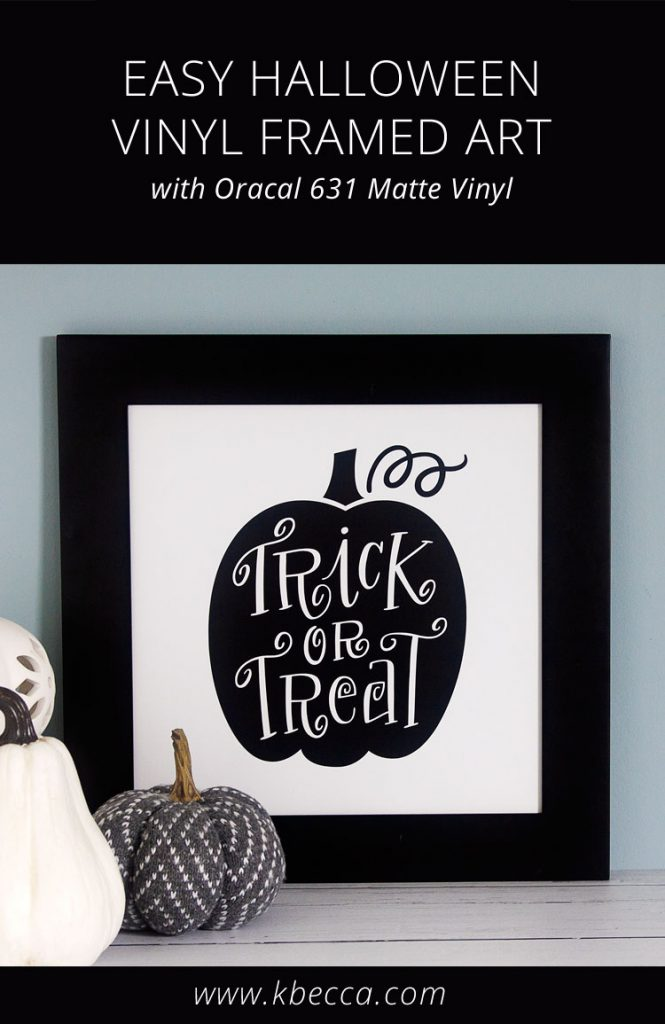 DIY Halloween Vinyl Framed Art Decoration #oracal #vinylart #halloween #halloweendecoration