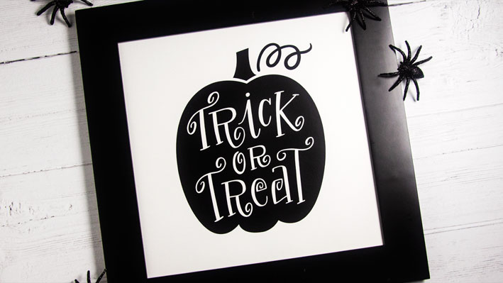 DIY Halloween Vinyl Framed Art with Oracal 631 Vinyl
