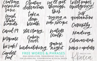 FREE Coronavirus / COVID-19 Words & Phrases for Journaling, Scrapbooking & Social Media