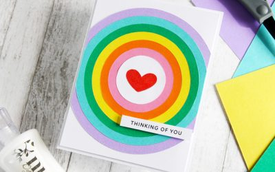 FREE Nested Circle Heart SVG Cut Files Cardmaking Tutorial